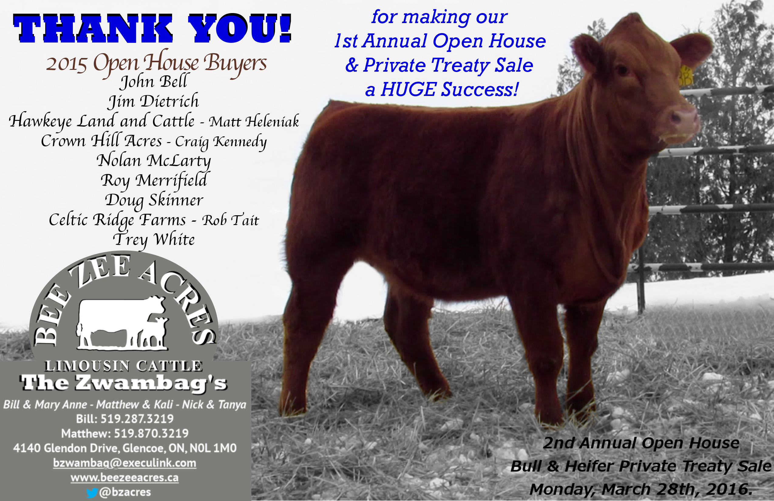 Thank You House: Thank You 2015 Open House Buyers
